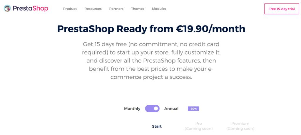 PrestaShop Pricing