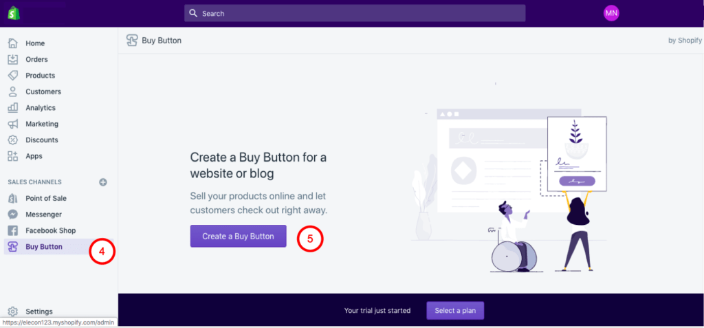 Shopify Lite Create Buy Button