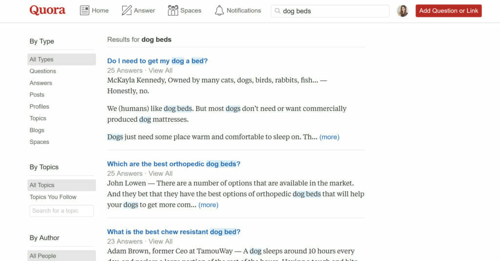 quora search q&a sites