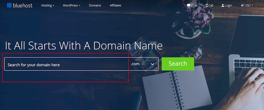 Registering Domain Name with Bluehost