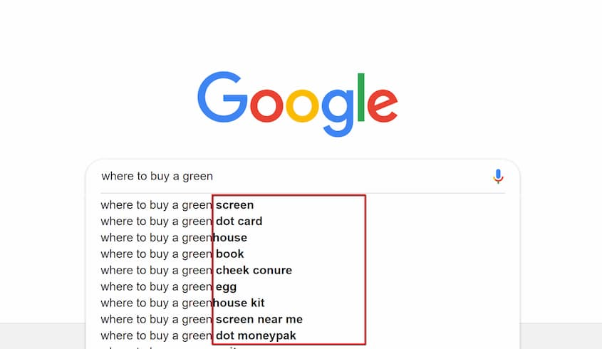 green search